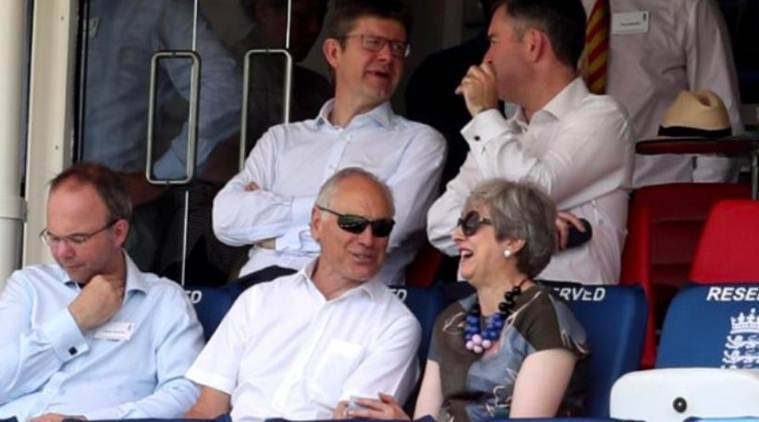 Theresa May snubs new British PM to watch England's Test at Lord's