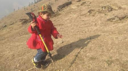 Three-year-old trekker awarded 'youngest hiker' in Valley