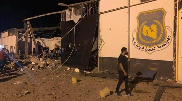 At least 40 killed in strike on Tripoli migrant detention centre: Official