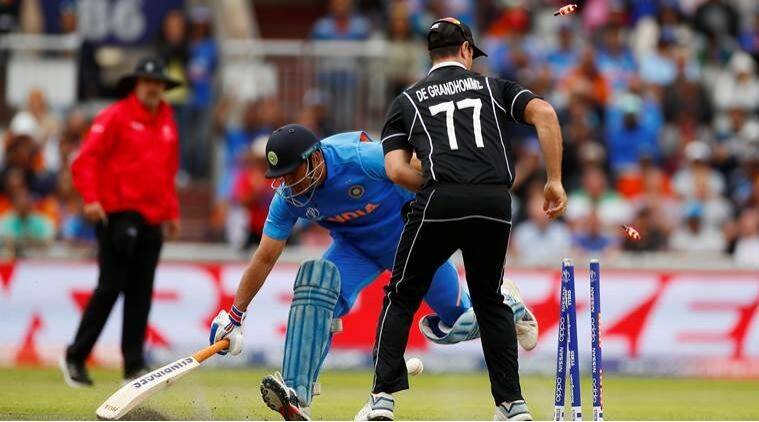 MS Dhoni wicket