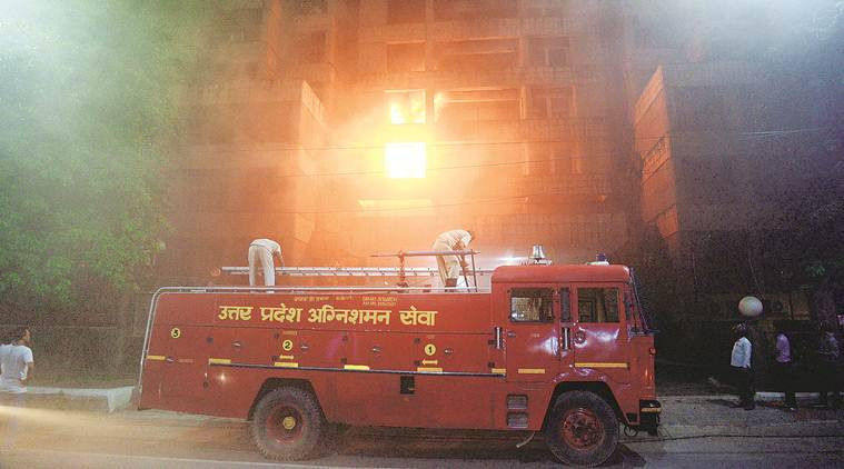 Chief Minister Yogi Adityanath, Yogi Adityanath, fire at govt office in up, up govt office fire, lucknow news