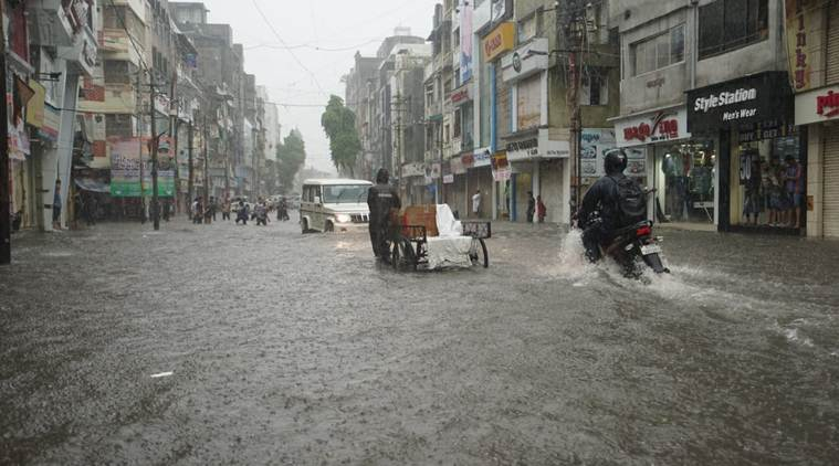 gujarat rains, vadodara rains, heavy rains in vadodara, gujarat rainfall, south west monsoon, weather forecast, gujarat schools closed, vadodara record rainfall, indian express