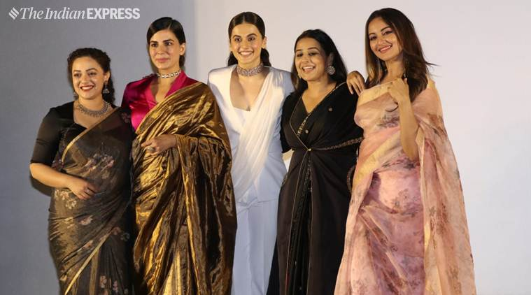 Mission Mangal: Vidya Balan, Taapsee Pannu, Nithya Menen, Kirti Kulhari and Sonakshi Sinha give ethnic goals at the trailer launch