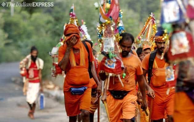 Kanwar Yatra, Kanwar Yatra delhi, Kanwar Yatra noida, Kanwars, savan, Kanwar Yatra route, Kanwar Yatra security
