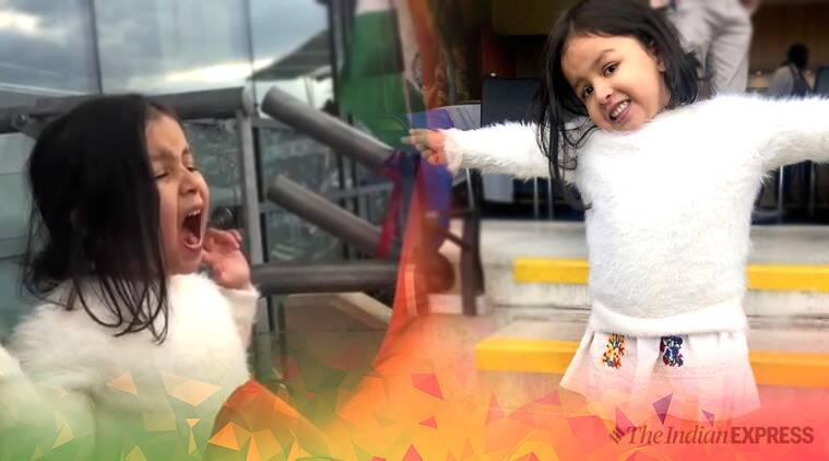 MS Dhoni, MS Dhoni ziva, ziva viral video, ziva screaming papa, india vs bangladesh, ind v ban, indian team score, icc world cup 2019., world cup semi finals, twitter, indian express, indian express news