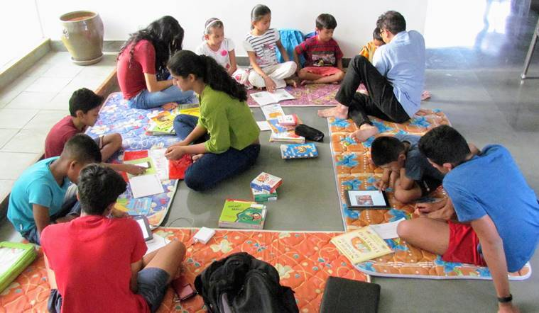 100Books: Bengaluru volunteers take English to underprivileged kids, with 100 books and a tab