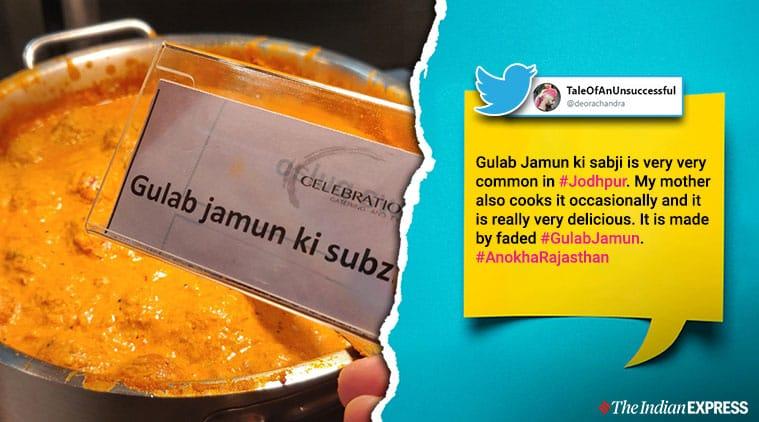 gulab jamun, gulab jamun ki sabji, rajasthani dishes, weird food, viral food debate,  trending, indian express