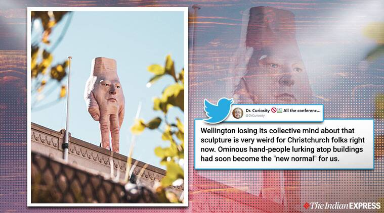 This 'creepy' sculpture of a hand with a face is freaking people out in New Zealand