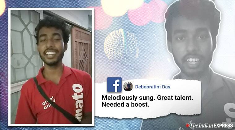 delivery boy singing, Zomato delivery boy singing, Zomato delivery boy singing viral, Zomato, Trending, Indian Express
