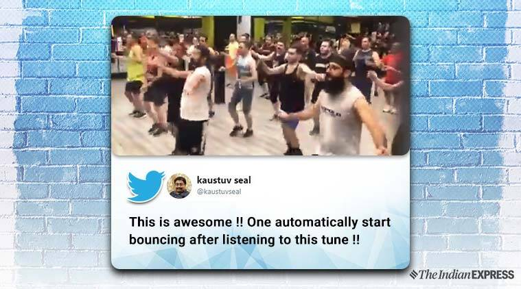 tamil song iran gym, iranians warm up tamil song, anand mahindra, Mambazhamam song, iran gym Mambazhamam song video, viral news, indian express