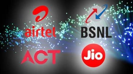 reliance jiogigafiber, bharat fiber, bsnl, airtel v fiber, airtel, reliance, act, act fibernet, fiber broadband plans