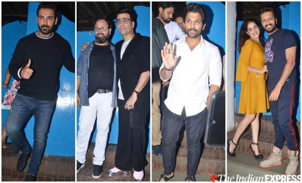 8 years of Emmay Entertainment celebration Batla House Nikkhil Advani Karan Johar, Allu Arjun