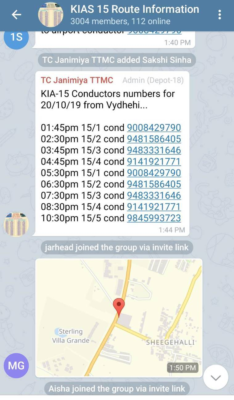 BMTC-Bengaluru-bus-Telegram-group-screenshot
