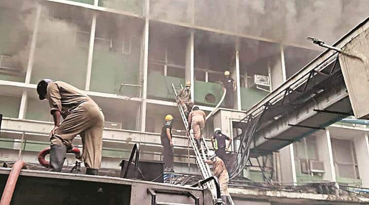 AIIMS fire, AIIMS emergency department fire, fire at AIIMS, fire at AIIMS Delhi, AIIMS Delhi fire, delhi fire department, fire at AIIMS Delhi emergency department, delhi news, city news, Indian Express
