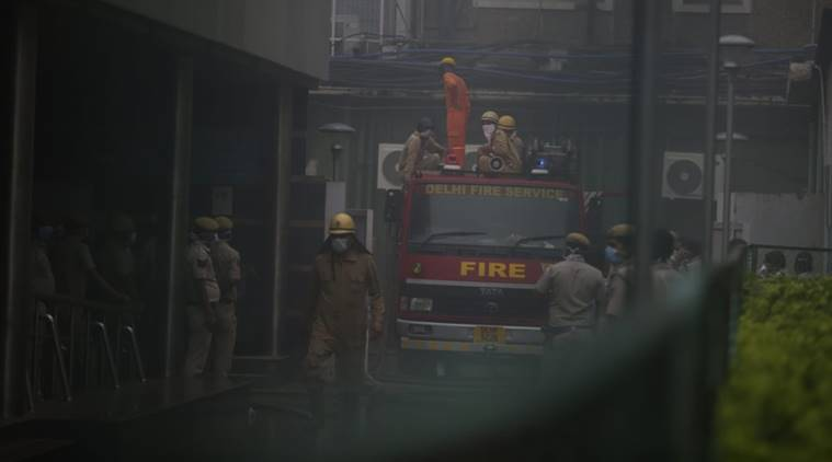 aiims fire, delhi aiims fire, fire at aiims hospital, delhi hospital fire, delhi city news, indian express news