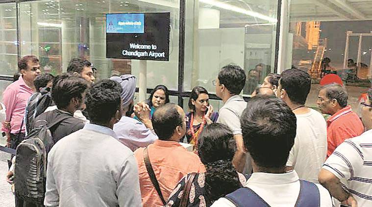 Pilot cites low fuel, Air India flight to Delhi takes off after high drama