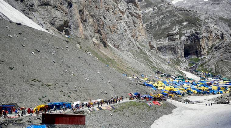 Amarnath yatra, Amarnath yatra terminated, Amarnath yatra suspended, Srinagar Jammu Kashmir, Jammu Kashmir section 144, Jammu Kashmir curfew