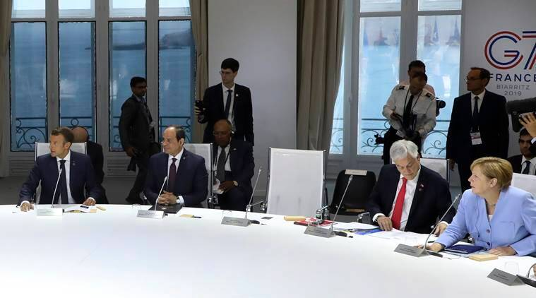 g7 Summit france, france G7 summit Donald Trump, Trump missing G7, Donald Trump climate change, indian express