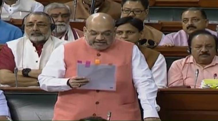 Amit Shah, Article 370