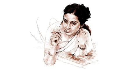 Amrita Pritam, Indian Express, Books, poetry, fiction, Sparsh, Sai Paranjpye, filmmaker Basu Bhattacharya, Teesri Kasam