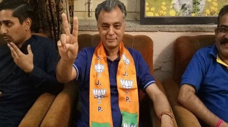 bjp, bjp expels anil sharma, anil sharma expelled, himachal pradesh power minister, bjp govt, sukh ram, lok sabha elections, indian express news
