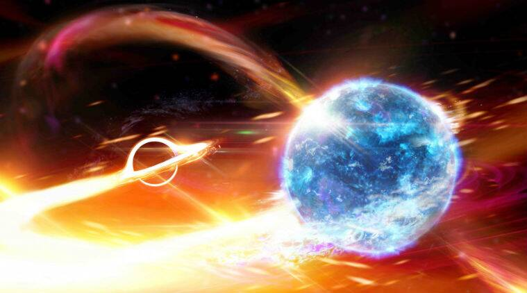 black hole, neutron star, black hole swallows up neutron star, Australian National University, ANU, Laser Interferometer Gravitational-wave Observatory, LIGO, Virgo interferometer