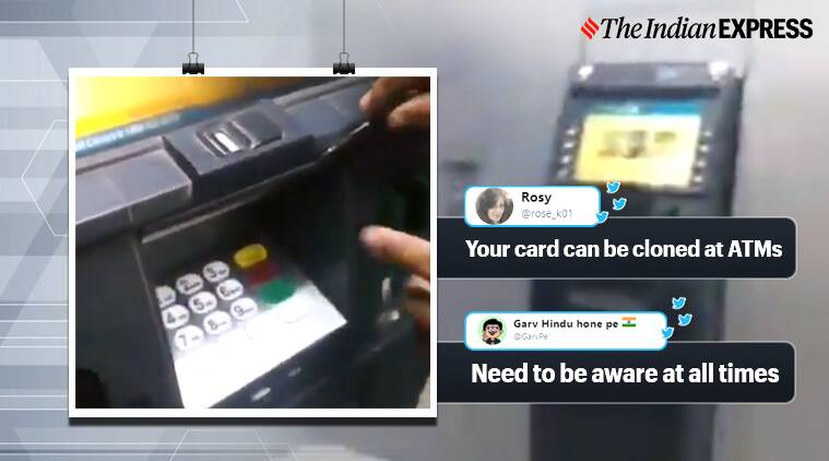 atm tampering viral video, Video Of ATM Tampering, atm, atm machine tampering, twitter reactions