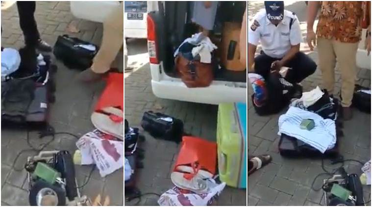 Bali hotel indian family stealing, indian family hotel stealing video, india hotel stolen ware, india bali indonesia, indian express