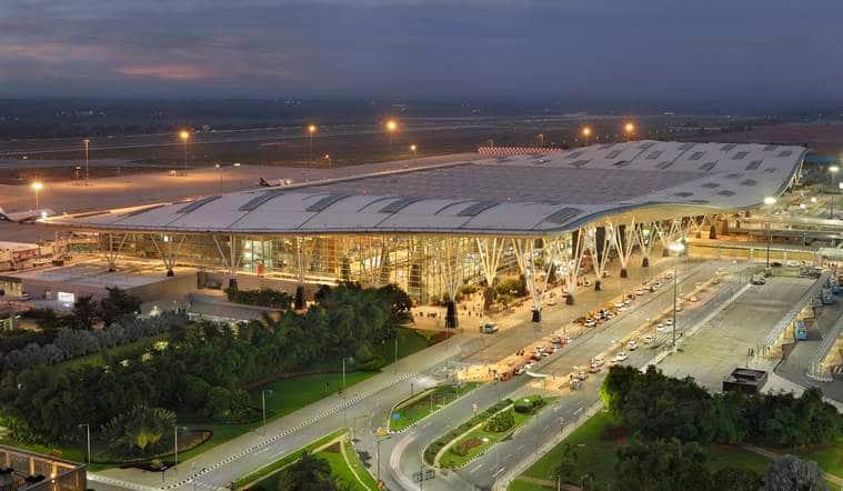 Bangalore-Bengaluru-airport-terminal-t-2-aerial-view