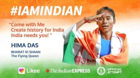 likee, likee singapore, likee video, iamindian, iamindian campaign, likee independence day campaign, independence day, indian flag, hima das, guiness world record, indian express news