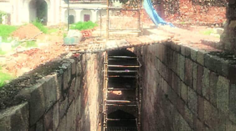 humayun's tomb delhi, delhi humayun's tomb, humayun's tomb baoli, baoli inside humayun's tomb, baoli humayun's tomb, baoli in humayun's tomb, humayun's tomb baoli restoration, delhi news, city news, Indian Express