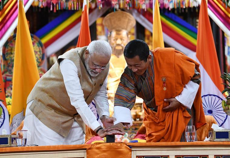 india bhutan hydroelectric power plant, hydroelectic power plant bhutan, india bhutan relations, india bhutan NHPC projects, NHPC projects india bhutan, bhutan india relations, india NHPC project, bhutan NHPC project, pm modi in bhutan, modi in bhutan, india news, Indian Express