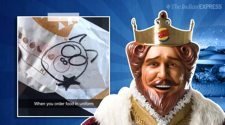 Burger King employees fired over 'unacceptable' pig drawing on cop's food wrapper