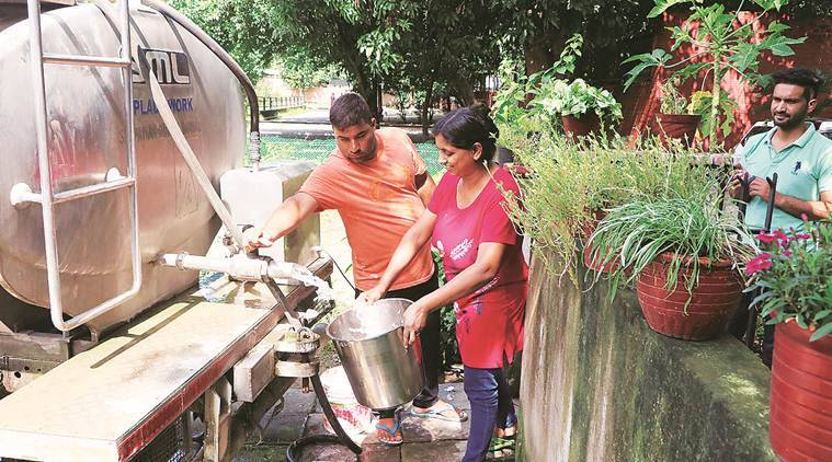 mohali city news, chandigarh city news,mohali water pipeline mohali water crisis, indian express