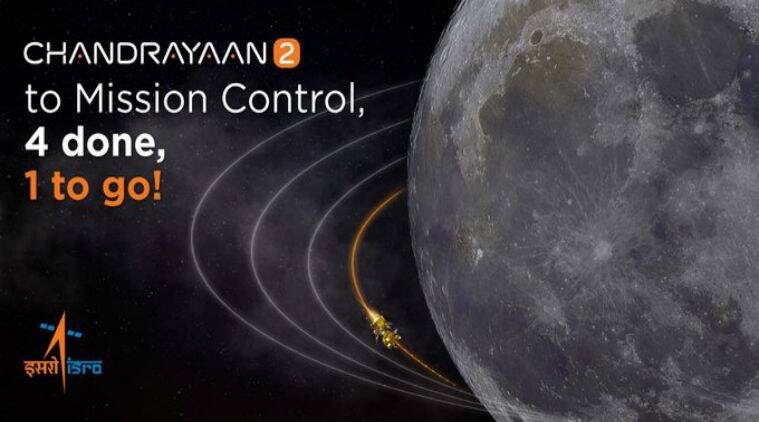 isro chandrayaan 2, chandrayaan 2 fourth lunar orbit manoeuvre, chandrayaan 2 closer to moon, chandrayaan 2 news, chandrayaan 2 update, chandrayaan 2 landing date, chandrayaan 2 landing time