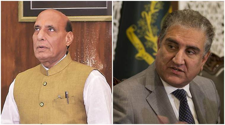 rajnath singh, rajnath singh nuclear remark, defence minister nuclear weapons, rajnath singh pokhran visit, pakistan foreign minister, qureshi slams rajnath, article 370, jk special status