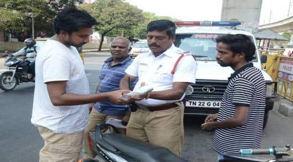 Chennai, Chennai traffic police, e-challan