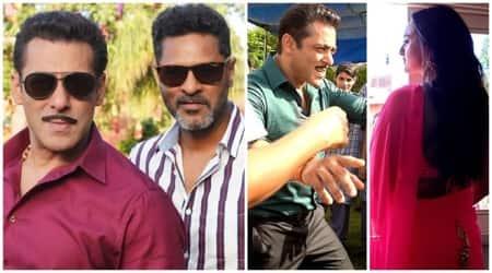 Dabangg 3 Salman Khan Sonakshi Sinha latest clicks from the sets