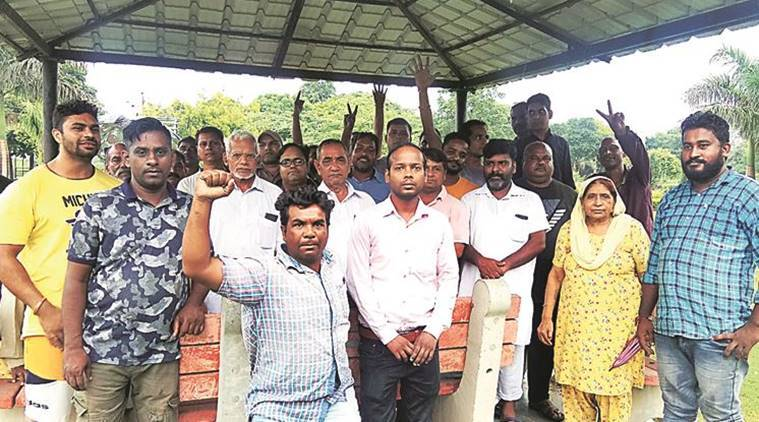 Dadumajra residents protest against garbage dumping at proposed site of Theme Park