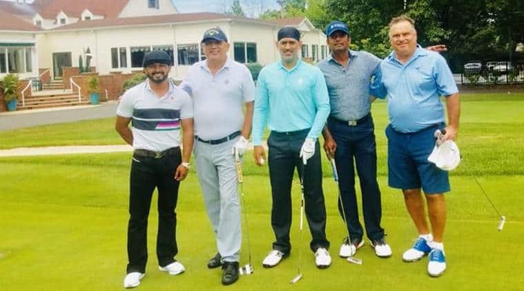 MS Dhoni, Kedar Jadhav, Dhoni Jadhav gold, Dhoni Jadhav sports day, Dhoni Jadhav play golf, MS Dhoni retirement, MS Dhoni retirement rumours, cricket news