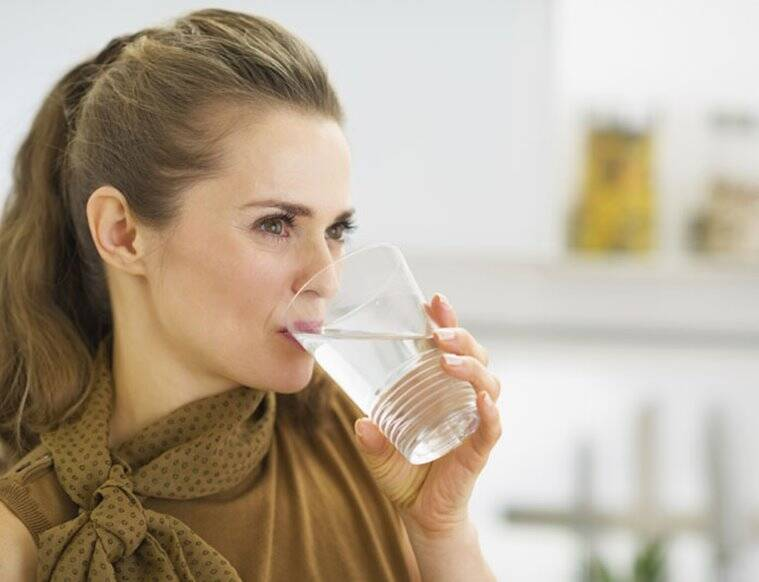 drinking water, benefits of drinking water, healthy gut, gut health, indian express