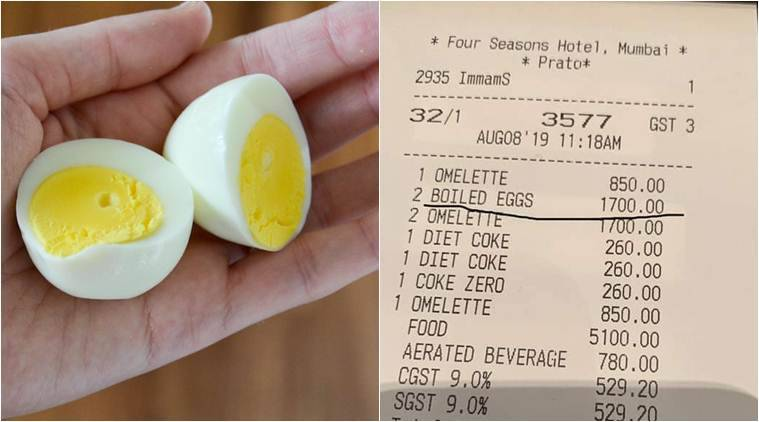 After Rahul Bose, Twitter user shows bill of Mumbai hotel charging Rs 1700 for two boiled eggs