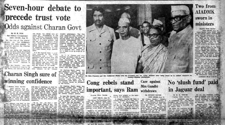 forty years ago, forty years ago indian express, morvi incident, charan singh, indira gandhi, morvi disaster, punjab janata dal ministers resign, editorial, Indian Express