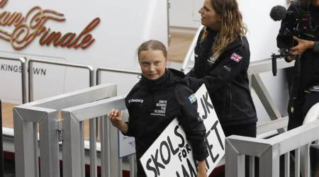 Teen activist Greta Thunberg sails across Atlantic to go to climate meeting