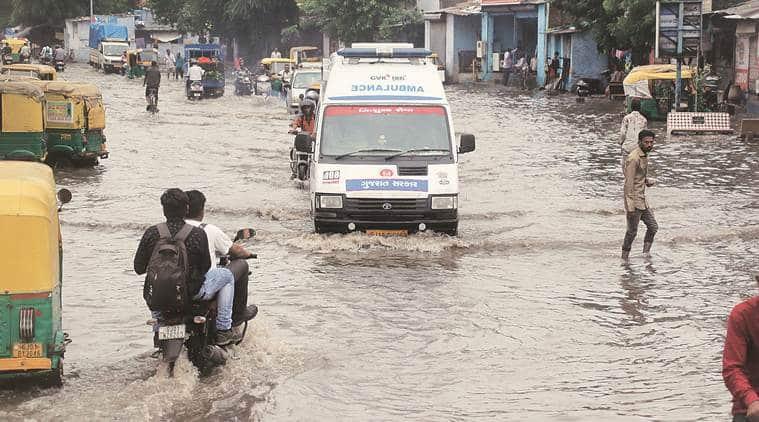 Gujarat news, Gujarat rainfall, Gujarat rain news, Gujarat weather news, Gujarat rain death doll, indian express