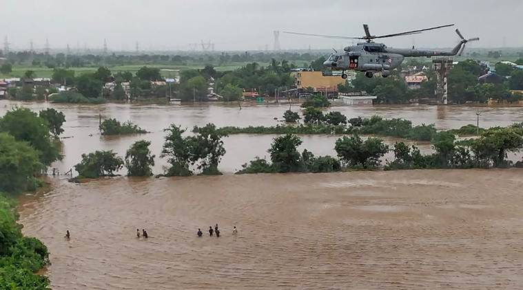 During flood rescue iaf pilots flew on low fuel battling fading light language barriers