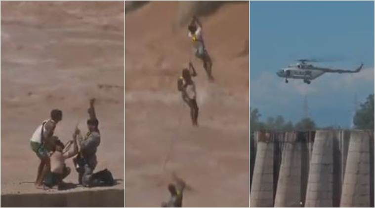 Jammu: IAF rescues four people stranded in overflowing river Tawi