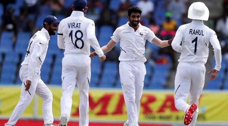 india vs west indies test, india vs west indies score, india vs west indies test match 2019, india vs west indies test scorecard, jasprit bumrah, ajinkya rahane, cricket scores, cricket news