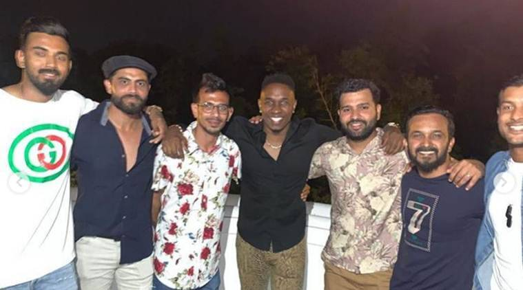 Indian cricketers pay Brian Lara a visit, attend dinner party at his residence