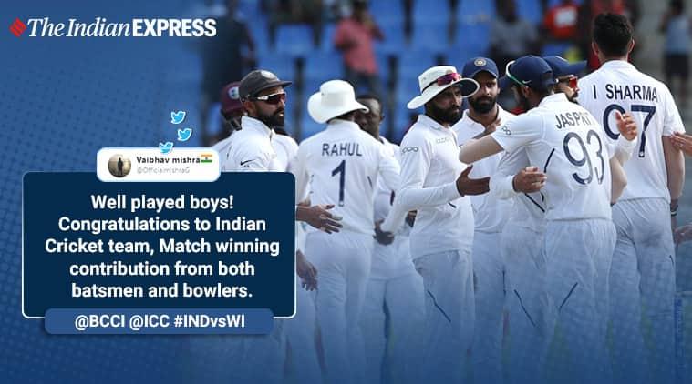 India vs West Indies, India vs West Indies 1st Test Day, India wins 1st Test, Cricket, test cricket, Trending, Sports news, Indian Express news